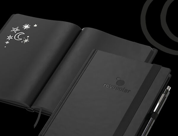 "werbeland®-News: Teaser zu Business Notizbuch ""Night-Book""."